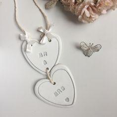 Handmade white clay Wedding garland £8.50