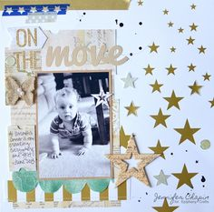 Layout made with the #epiphanycrafts Shape Studio Tool Round 14 and Star Tools. www.epiphanycrafts.com #pinkpaislee #scrapbook