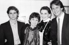 Luca, Italian fashion designer Marina Spadafora, Audrey and Sean at Connie Wald's (Audrey's best friend) house in Beverly Hills, California on December 21, 1985.