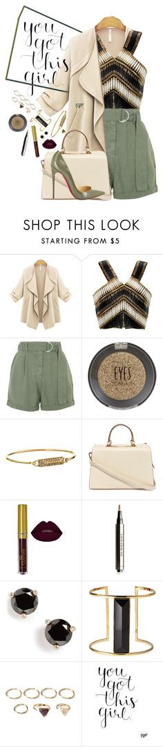 """""""Style!"""" by hennie-henne ❤ liked on Polyvore featuring Balmain, Topshop, Rebecca Minkoff, Nila Anthony, Christian Louboutin, Burberry, Kate Spade, Rachel Zoe, Forever 21 and women's clothing"""
