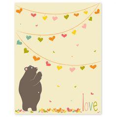 Love Bear Print