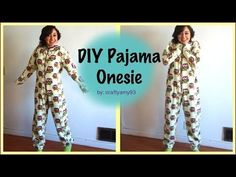 DIY Pajama Onesie video! This would be perfect for making Halloween costumes!!