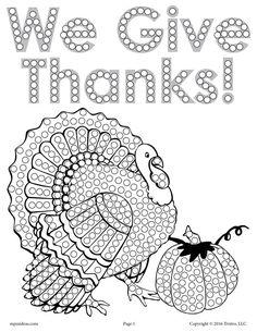FREE Thanksgiving Turkey Q-Tip Painting Printable!