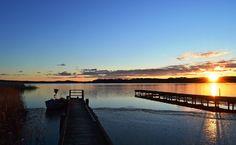 Sonnenuntergang am Anlegesteg zum Selliner See #ruegen #sellin #see #hafen #boot