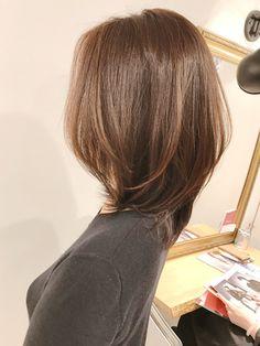 Medium Layered Hair, Medium Hair Cuts, Short Hair Cuts, Medium Hair Styles, Pretty Hairstyles, Bob Hairstyles, Bob Hair Color, Asian Short Hair, Shot Hair Styles