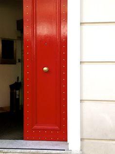 brass studded front door