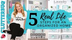 5 REAL LIFE Steps for an Organized Home - YouTube Declutter Your Home, Organize Your Life, Clutter Organization, Organization Ideas, Organizing Tips, Ny Life, Clutter Control, Making Life Easier, Easy Projects