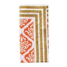 Ethnic Ikat Napkin by Kim Seybert   Orange/Brown   Set of 4