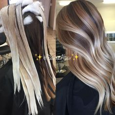 Hair Painting, Balayage, Highlights and All-Over Applications – Balayage Hair Ombre Hair Color, Hair Color Balayage, Cool Hair Color, Blonde Balayage, Hair Bayalage, Diy Ombre Hair, Baylage, Hair Colour, Balage Hair