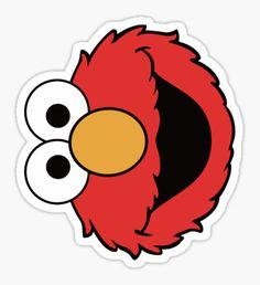 'Elmo' Sticker by cusmar Meme Stickers, Cartoon Stickers, Tumblr Stickers, Cool Stickers, Printable Stickers, Laptop Stickers, Elmo Wallpaper, Homemade Stickers, Red Bubble Stickers