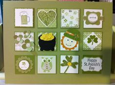 Stampin' Up!  St. Patrick's Collage  Monica Young