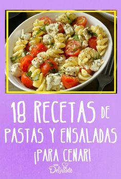 recetas de ensaladas y pastas baratas para la cena Pasta Facil, Avocado Pasta, Deli, Potato Salad, Meal Prep, Easy Meals, Food And Drink, Veggies, Healthy Recipes