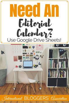 Need An Editorial Calendar? Use Google Drive Sheets! Did you know you can use Google Drive Sheets as an Editorial Calendar with a simple add-on? Julie from Fab Working Mom Life shows us how! http://www.internationalbloggersassociation.com/editorial-calend