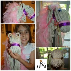 Solagratiamom: Making Mops Into Stick Horses Horse Birthday Parties, Cowboy Birthday Party, Cowgirl Party, Farm Birthday, Rodeo Birthday, Cowboy Theme, 10th Birthday, Cowgirl Baby Showers, Carousel Party