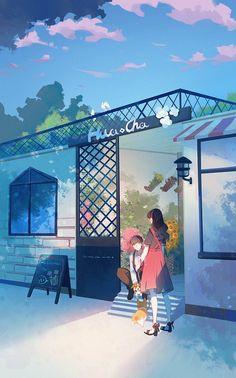 Cute Couple Art, Anime Love Couple, Anime Couples Manga, Cute Anime Couples, Aesthetic Anime, Aesthetic Art, Kawaii, Girl Cartoon Characters, Anime Triste