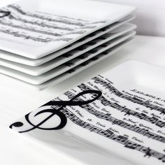 music notes on dishes - Google Search