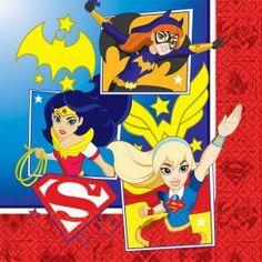 Girls Party Ideas :: Super Hero Girl :: Super Hero Girl Large Napkins Pack 16
