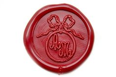 Ribbon Ring Double Initials Wax Seal Stamp