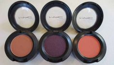 Shadow review roundup:  MAC Body Conscious, Brazenly and Ablaze Eye Shadows.