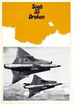 SAAB J 35 Aircraft Draken Brochure Manual - Aircraft Reports - Manuals Aircraft Helicopter Engines Propellers Blueprints Publications