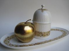 Vintage Rosenthal Romanze Studio Linie Tray and Lidded Container Designed by Bjorn Wiinblad