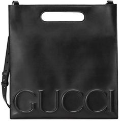 e97fb4c9ec6 Shop the Gucci XL leather tote by Gucci. The large Gucci XL tote has an  embossed Gucci logo that extends across the front of the bag. Made in our  smooth