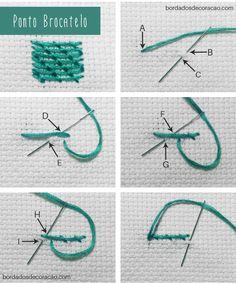 Bordado livre passo a passo: aprenda a bordar o Ponto Brocatelo