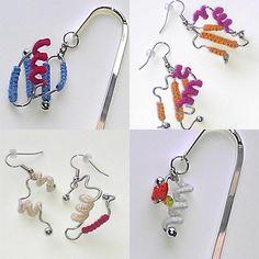 Dreadlock Accessories, Science Jewelry, Science Art, Bookmarks, Jewelry Ideas, Anatomy, Protein, Etsy Seller, Tech