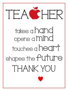 Teacher Appreciation Printables | Teacher Appreciation gifts can sometimes be hard to come up with.