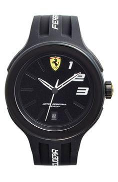 Scuderia Ferrari 'FXX' Silicone Strap Watch, 46mm