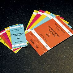 Sports themed drink tickets for the cocktail hour $15.98 http://thingsfestive.weddingstar.com/product/sport-themed-drink-tickets