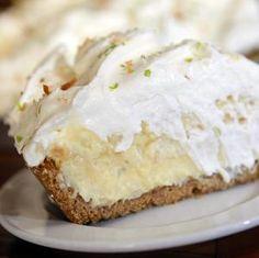 Honeypie Café's coconut Key lime pie