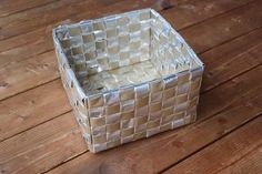 Korn, Recycling, Decorative Boxes, Weaving, Rainbow, Diy, Home Decor, Paper Engineering, Bottles