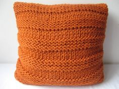 Super chunky cushion cover in Burnt orange by laurimuks on Etsy, $42.00