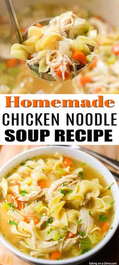 20 Minute Homemade Chicken Noodle Soup You can enjoy Homemade Chicken Noodle Soup Recipe in just 20 minutes. If you are craving soup, this is the best homemade chicken noodle soup! Related posts: Classic Homemade Chicken Noodle Soup with Homemade Noodles Easy Homemade Chicken Noodle Soup Recipe, Crack Chicken Noodle Soup, Chicken Soup Recipes, Homemade Soup, Healthy Soup Recipes, Chicken Noodle Soup Rotisserie, Hamburger Recipes, Recipe Chicken, Spaghetti Nester