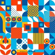 Geometric Shapes Design, Geometric Art, Pattern Art, Abstract Pattern, Op Art, Logos Retro, Bauhaus, Graphic Patterns, Graphic Design Typography