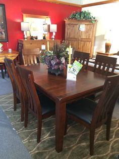 Come in today to see this beautiful 7 piece casual dining set!  New to the floor for only $967