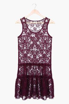 Lace Sleeveless Dress in purple