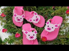 Palm Beach Sandals, Ciabatta, Flip Flops, Baby Shoes, Projects To Try, Beads, Youtube, Videos, Bead Crafts