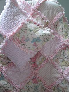 Butterfly Rag Quilt & Pillow