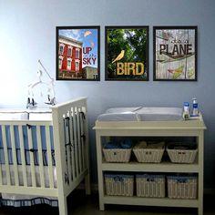 Superhero Art for Nursery or kid's room by SalvageTheWorld on Etsy, $18.00