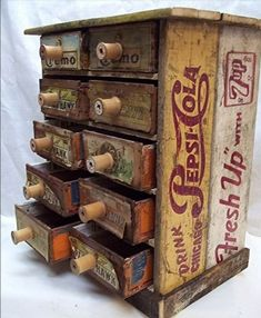 Made from cigar boxes & soda crates. For some reason I'm on a cigar box kick (and my spouse is on a crate kick!).