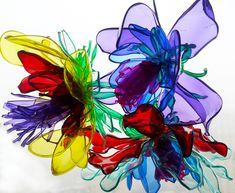Recycled Plastic Bottle Flowers