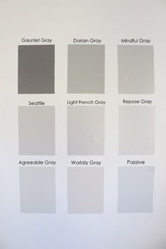Nine Gray Paint Colors We Put to the Test for Your Home - Within the Grove Gray Paint Samples by Sherwin Williams Nursery Paint Colors, Interior Paint Colors, Paint Colors For Home, House Colors, Interior Painting, Basement Paint Colors, Popular Paint Colors, Light Grey Paint Colors, Light Grey Walls