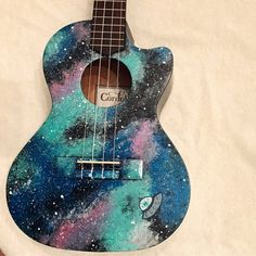 Kala Ukulele - Guitar What You Must Know Kala Ukulele, Ukulele Art, Guitar Art, Cool Guitar, Ukulele Soprano, Ukelele Painted, Painted Guitars, Ukulele Pictures, Ukulele Design