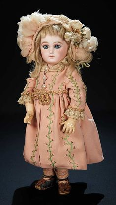 Dainty French Bisque Premiere Bebe by Emile Jumeau with Splendid Blue Eyes 6000/8000