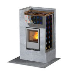 Finnish soapstone fireplace with cook stove. Wood and pellets. Can act as water heater too. Stove Fireplace, Diy Fireplace, Fireplace Design, Fireplaces, Wood Burning Heaters, Rocket Stoves, Rocket Heater, Cooking Stove, Water Heating