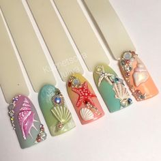 Gorgeous seaside nails!!!!!!!!!