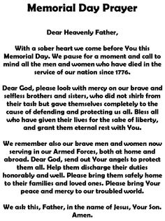 a memorial day prayer video