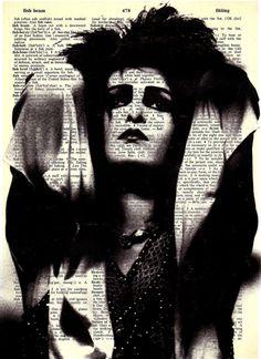 Siouxsie - Print on Vintage repurposed paper - dictionary print